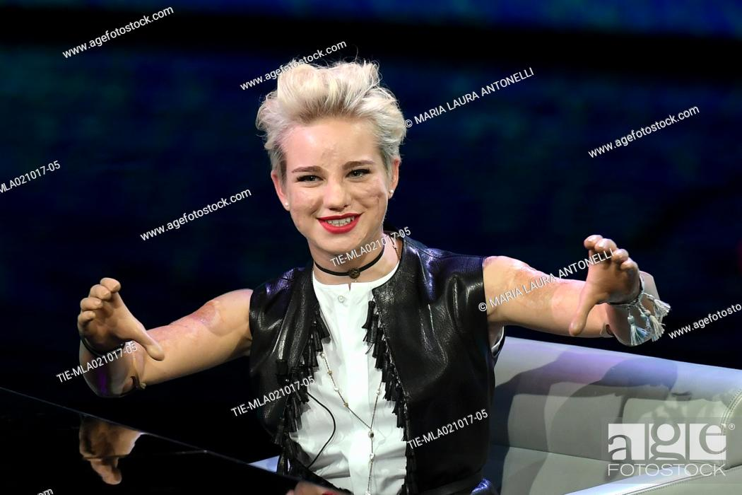 Paralympic athlete Bebe Vio guest at the tv show Che tempo