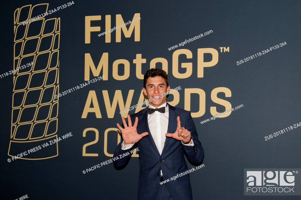 Stock Photo: November 18, 2018 - Valencia, Valencia, Spain - Valencia Conference Centre, Valencia, Spain; MotoGP of Valencia, Awards; Marc Marquez (Repsol Honda Team).