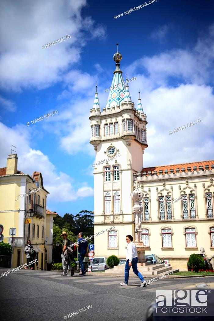 Stock Photo: Sintra Town Hall, Portugal.