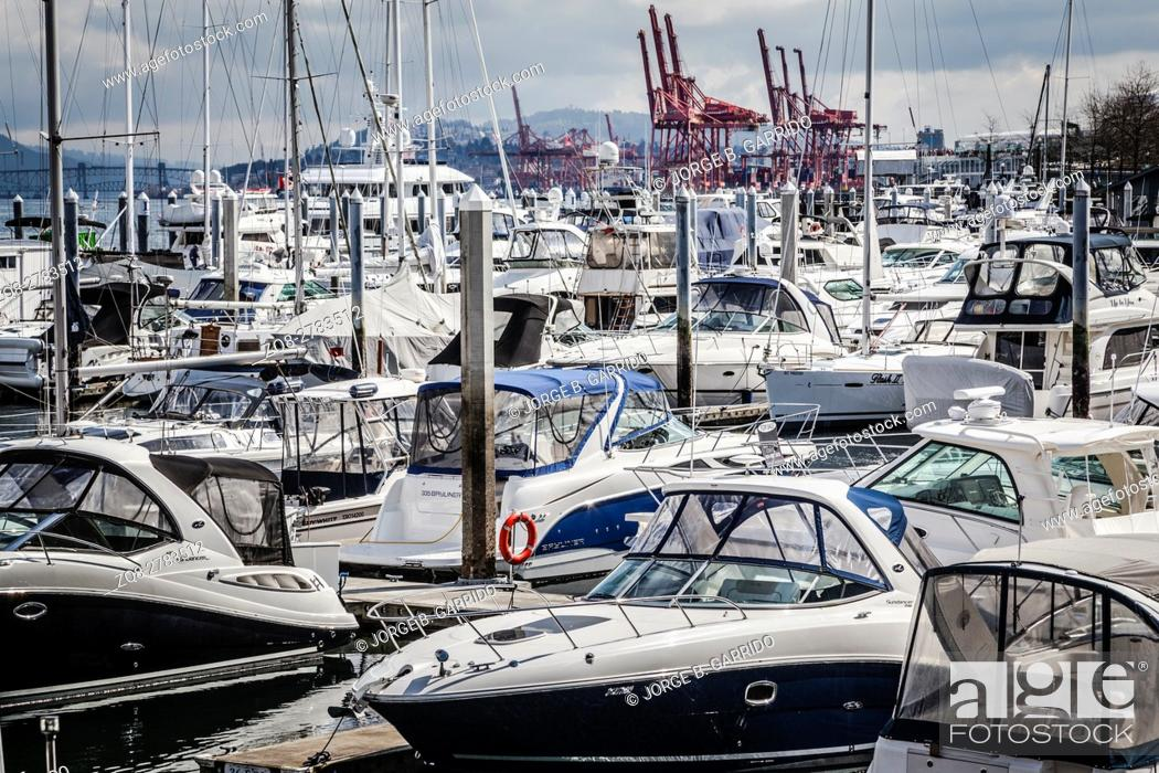 Stock Photo: View of Coal Harbor in British Columbia.
