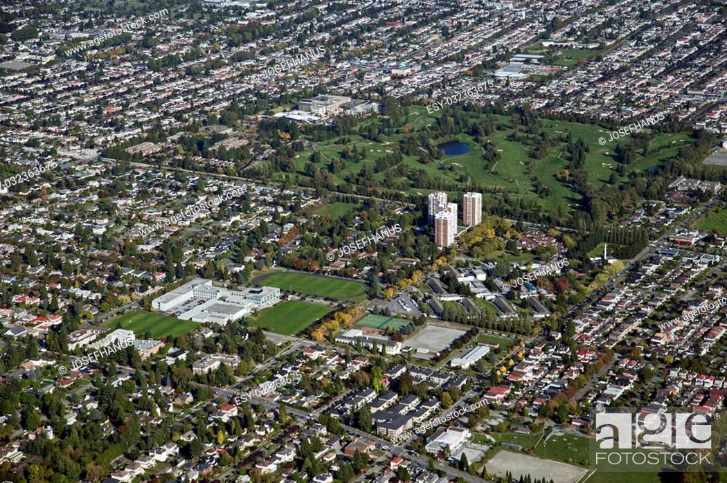 Stock Photo: Vancouver, Langara Golf Course and Cambie Street.