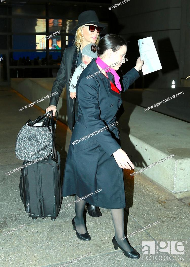 Stock Photo: Cate Blanchett arrives at Los Angeles International Airport Featuring: Cate Blanchett Where: Los Angeles, California, United States When: 28 Dec 2015 Credit:.