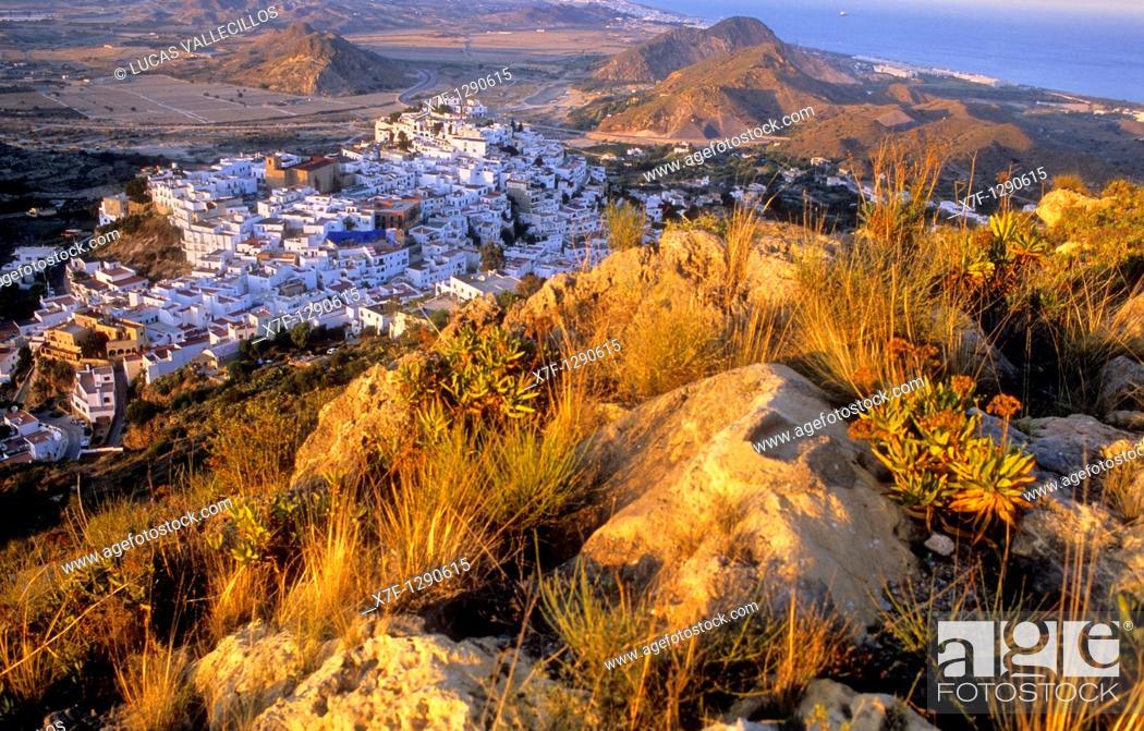 Stock Photo: Mojacar, Almeria province, Andalucia, Spain.