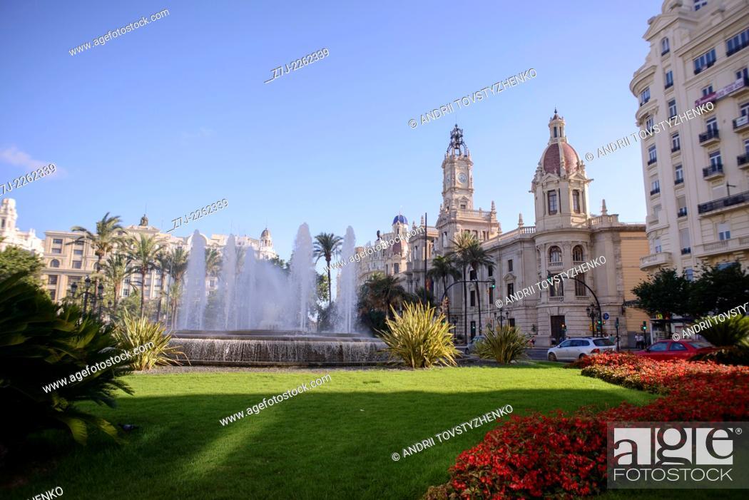 Stock Photo: Town Hall, Valencia, Spain.