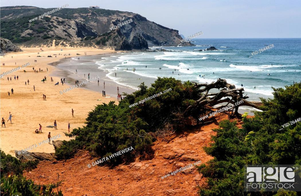 Stock Photo: Praia do Amado, Costa Vicentina, Algarve, Portugal.