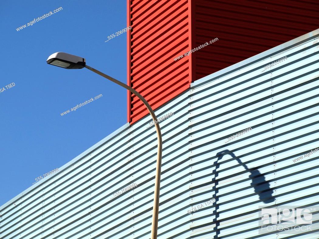 Stock Photo: Streetlight, Zona Franca, Hospitalet de Llobregat, Spain.