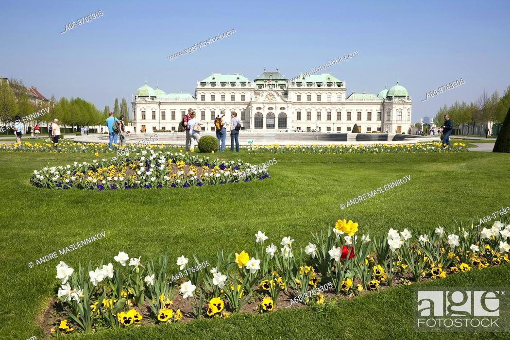 Stock Photo: Belvedere in Vienna, Austria.