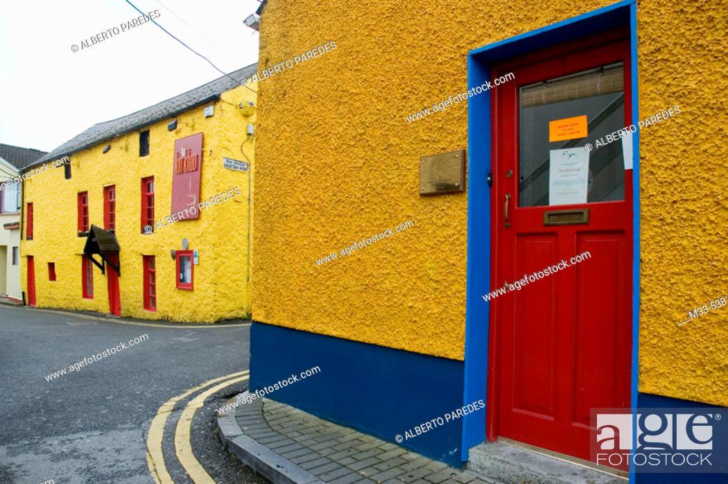 Stock Photo: Typical houses. Athlone. Ireland.