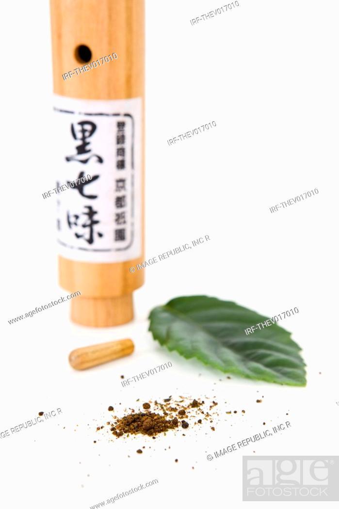 Stock Photo: condiment and cruet.