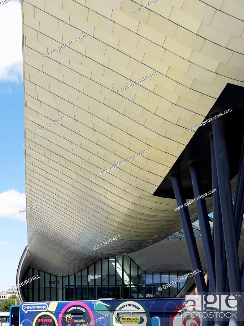 Slough Bus Station in Slough centre, an elegant new building
