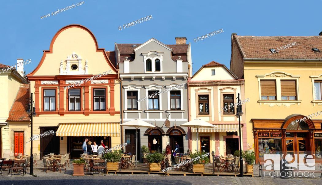 Stock Photo: Town Square Koszeg Hungary.