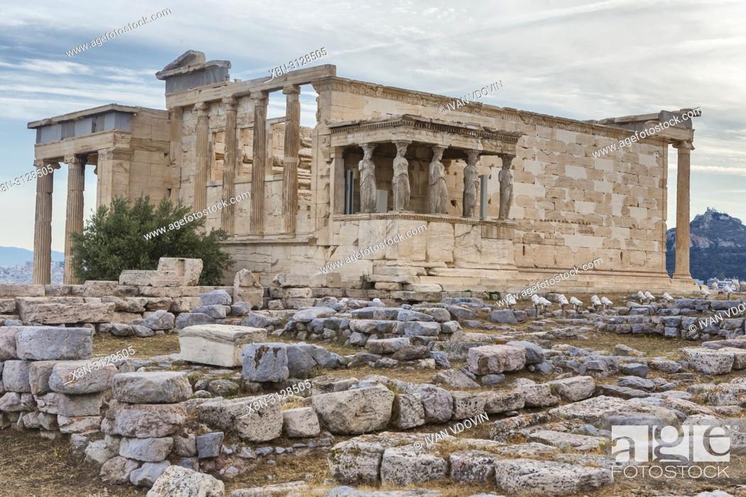 Stock Photo: Erechtheion temple, Erechtheum (406 BC), Athens, Greece.