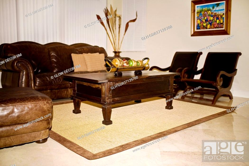 Stock Photo: Interiors of a living room.
