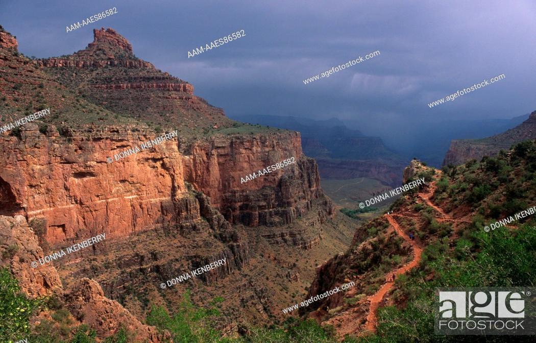 Stock Photo: Bright Angel Trail, Grand Canyon NP, Arizona.