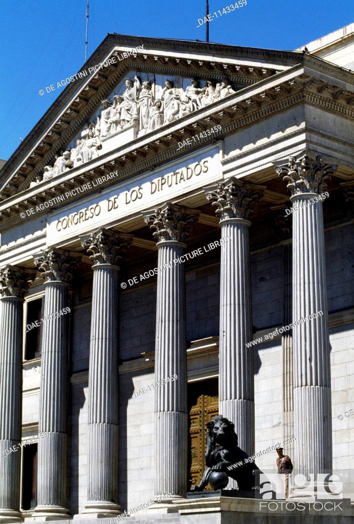 Palacio De Las Cortes Palace Of The Parliament 1843 1850 Stock