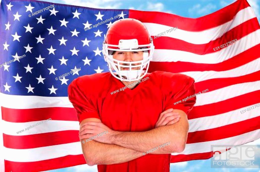 Imagen: Portrait of American Football player.