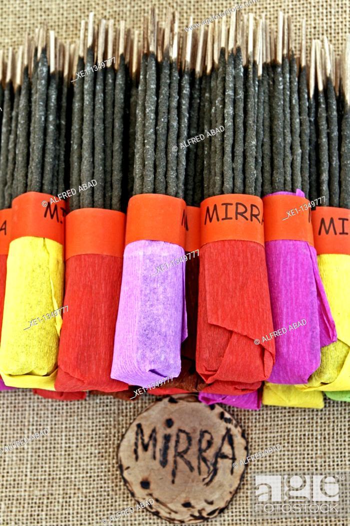 Stock Photo: sticks of myrrh.