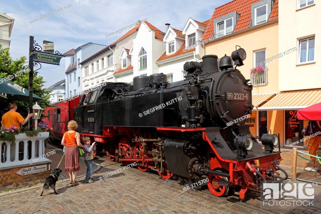 Photo de stock: Molli steam train, Bad Doberan, Mecklenburg-Western Pomerania, Germany.