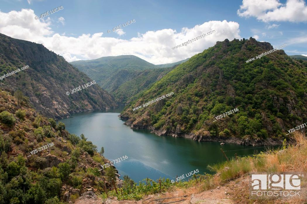 Stock Photo: The Sil river Canyon, Sober, Lugo province, Region of Galicia, Spain, Europe.