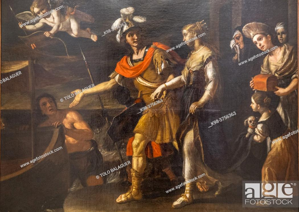 Photo de stock: Paris and Elena, 17th century, oil on canvas, Mattia Preti, Can Cotoner, Palma, Mallorca, Balearic Islands, Spain.