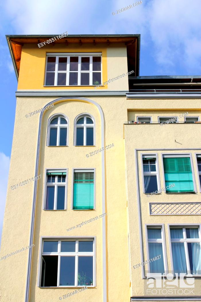 Stock Photo: Old Town, Vertical, Location, Protection, Save, House, Europe, City, Old, Size, Architecture, Building, Facade, Window, Roof, Rooftop, Town, Berlin, Germany, Living, Sun, Clamp, Loan, High, Front, Out, Capital, Apartment, Flat, Shot