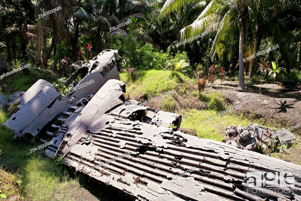 Stock Photo: Crashed japanese bobmer, Matupit Island, East New Britain; Papua New Guinea.