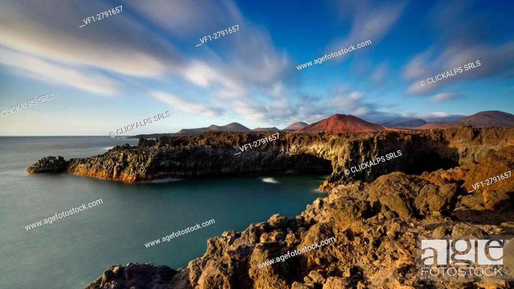 Stock Photo: Los Hervideros - Yaiza, Lanzarote.