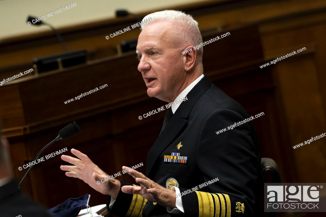 """Photo de stock: Admiral Brett Giroir, United States Assistant Secretary for Health, testifies during a House Oversight and Reform Committee hearing on """"The Administration's."""