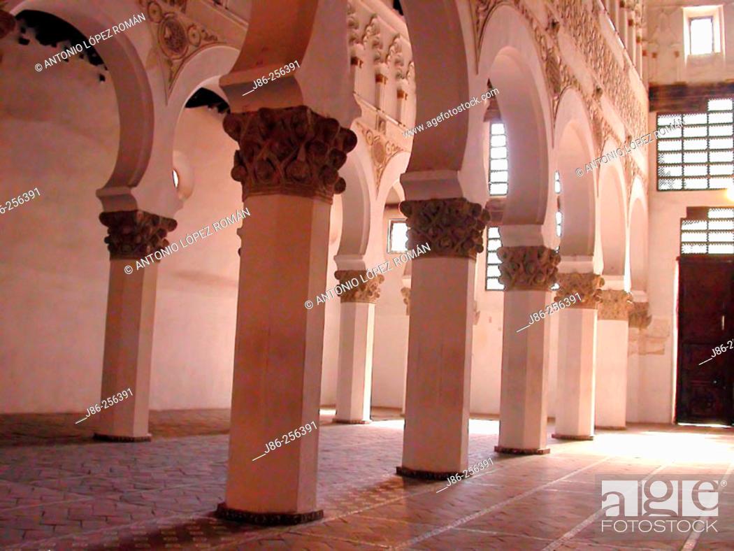 Stock Photo: Synagogue of Santa María la Blanca. Toledo. Spain.