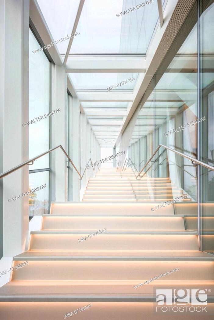 Imagen: Canada, Quebec, Quebec City, Musee National des Beaux-Arts du Quebec, MNBAQ, pavillon Pierre-Lassonde, 2016, stairs.