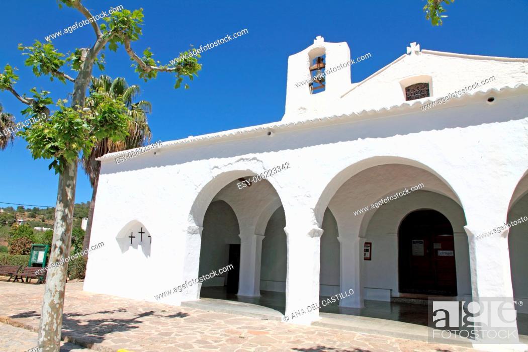 Stock Photo: Sant Carles de Peralta church Ibiza island Spain.