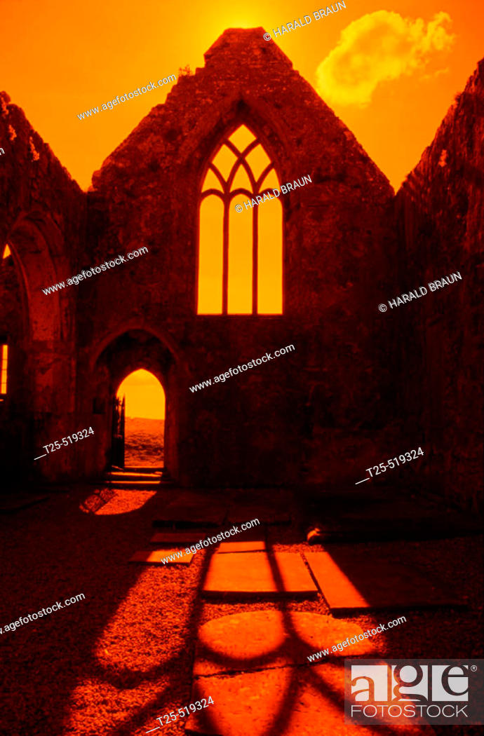 Stock Photo: Ross Abbey, Headford, County Galway, Ireland.