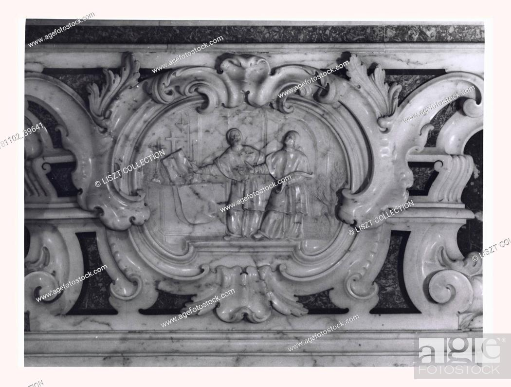 Stock Photo: Abruzzo L'Aquila Sulmona S. Panfilo, Cathedral, this is my Italy, the italian country of visual history, Exterior views of the facade, various portals and apses.