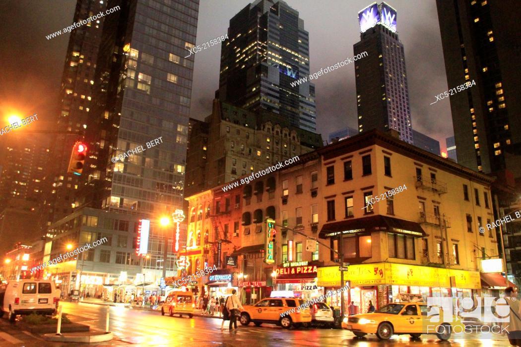 Stock Photo: Eighth Avenue, Manhattan, New York City.