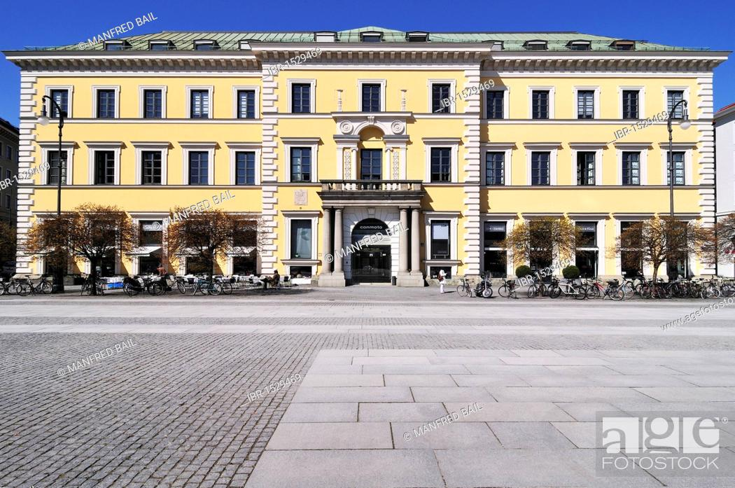 Stock Photo: Arco Palais, former aristocratic palace built by Leo von Klenze in 1824, Wittelsbacher Platz square, Munich, Bavaria, Germany, Europe.