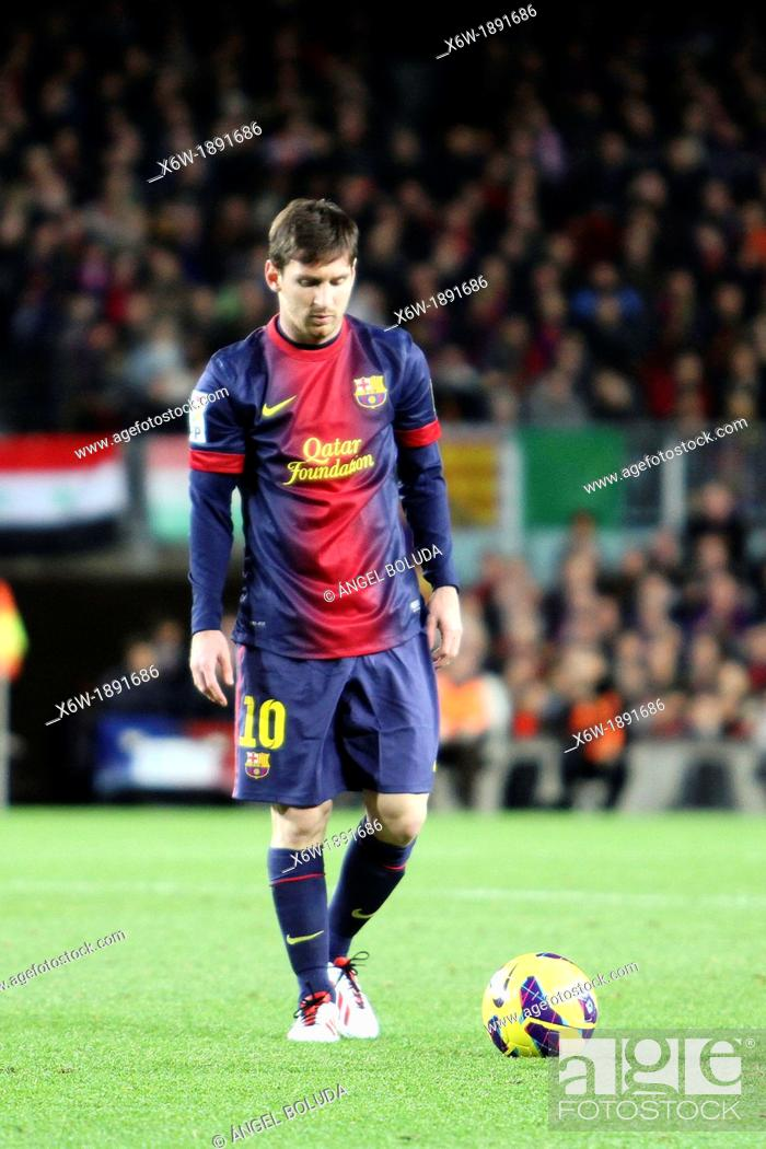 Stock Photo: 16/12/2012, NOU CAMP, BARCELONA  Leo Messi during the match in front At  de Madrid.
