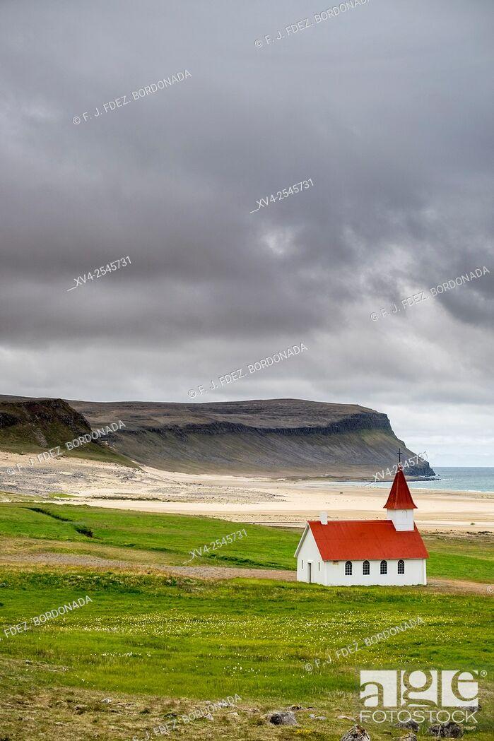 Stock Photo: Látrabjarg, Westfjords Iceland.