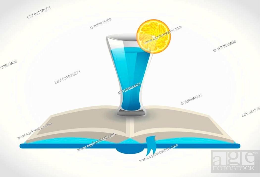 Stock Vector: cocktail recipe book design, vector illustration eps10 graphic.