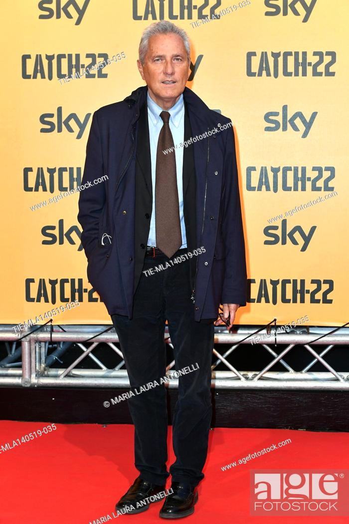 Stock Photo: Francesco Rutelli during the Red carpet for the Premiere of film tv Catch-22, Rome, ITALY-13-05-2019.