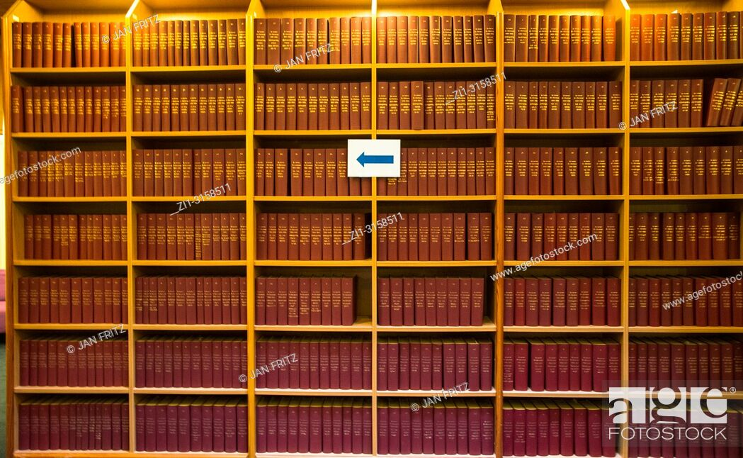 Stock Photo: Library, Staten generaal, The Hague, Netherlands.