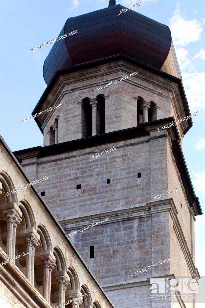 Stock Photo: Duomo Tower, Trento, Italy.