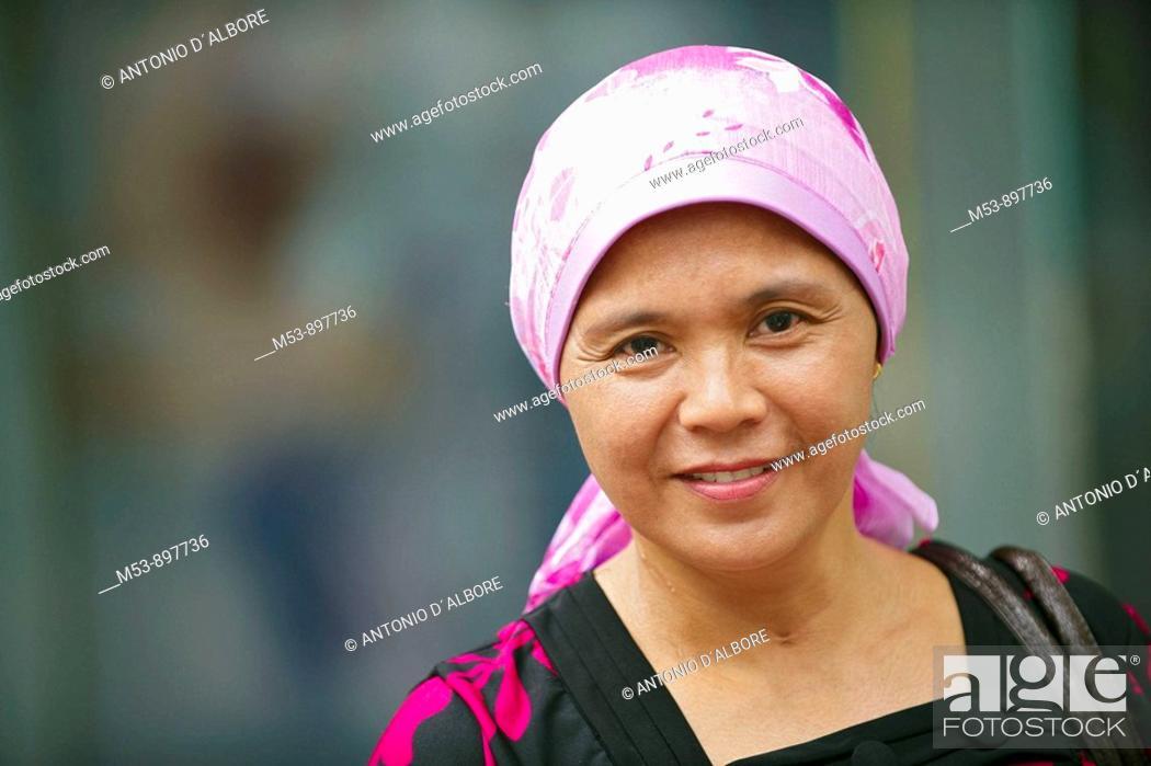 Stock Photo: malaysian woman  kuala lumpur  malaysia  asia.