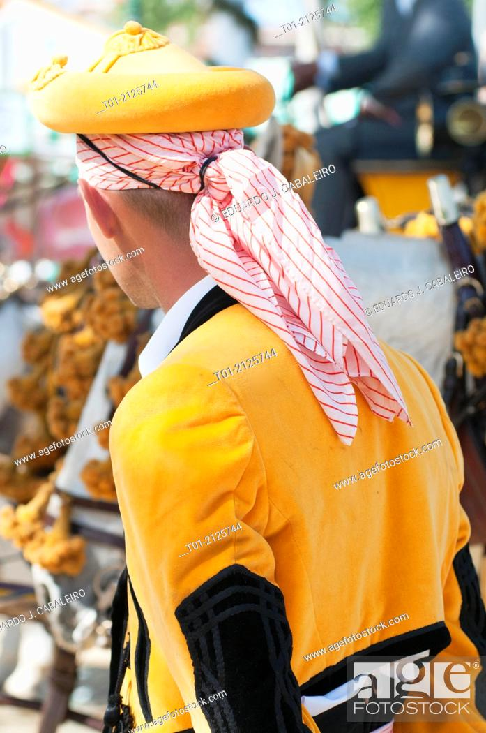 Stock Photo: typical dress of the April Fair of Seville.
