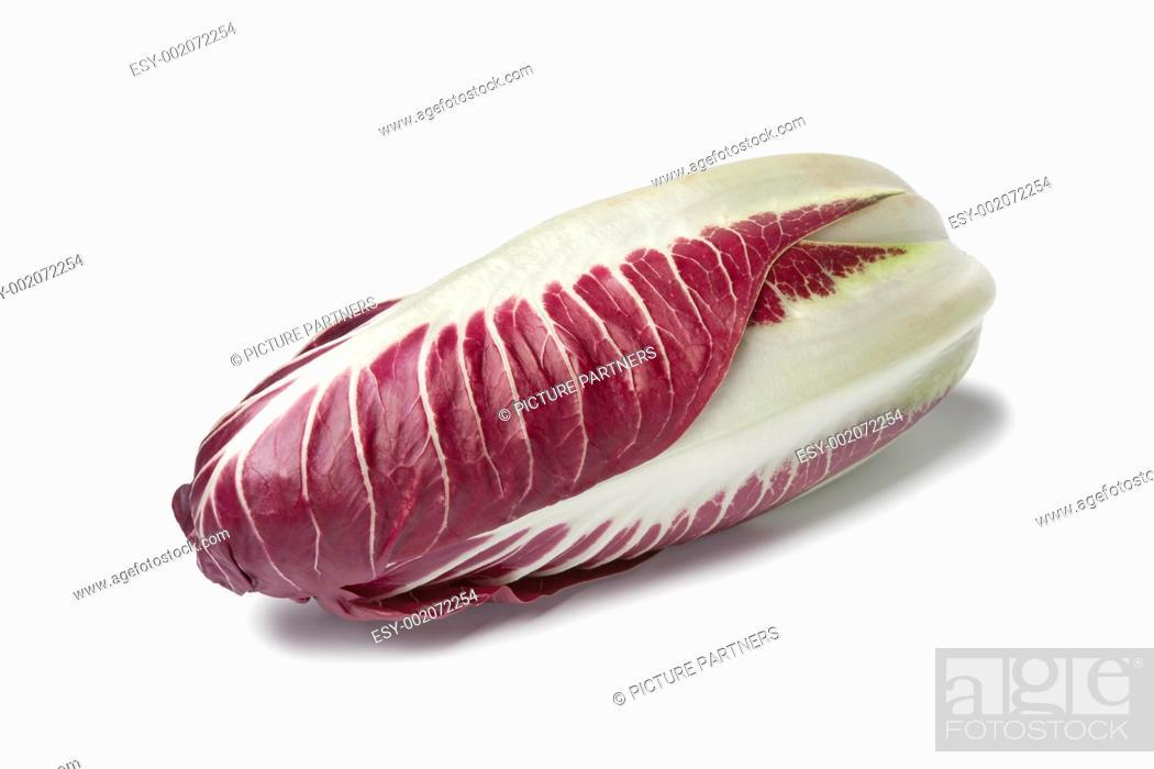 Photo de stock: Fresh Radicchio rosso on white background.