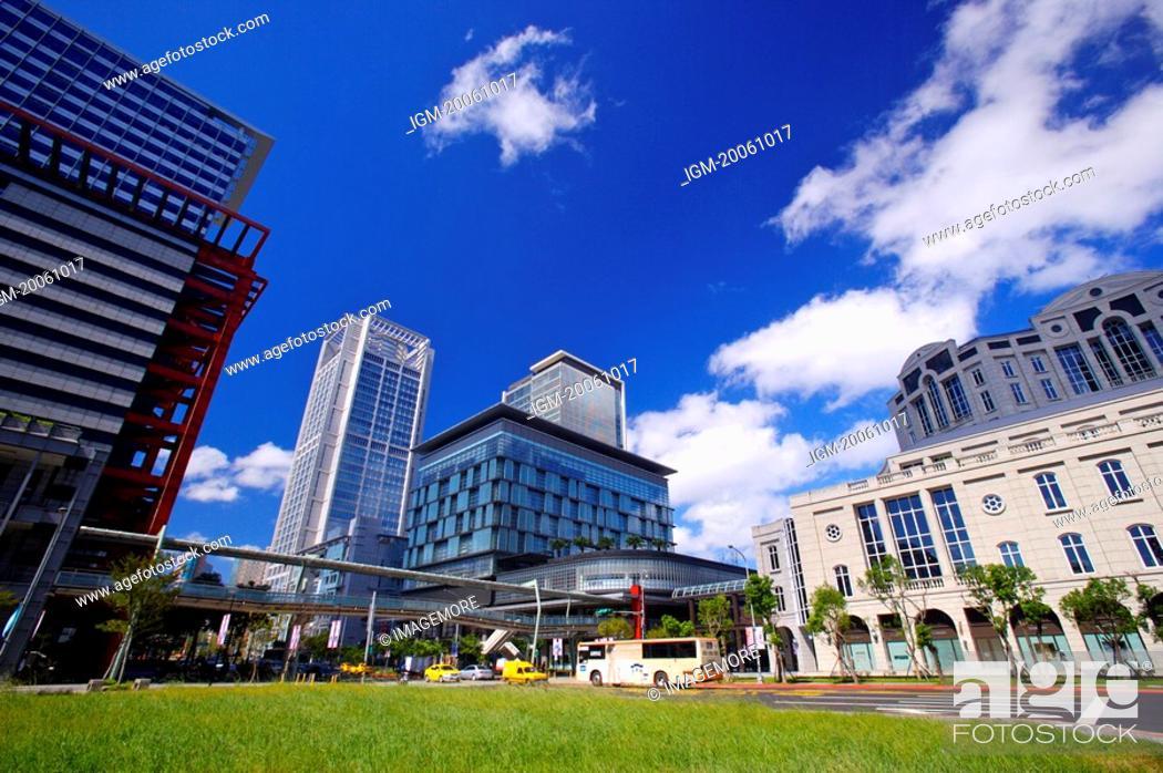 Stock Photo: Taiwan, Taipei, Xinyi Commercial Center.