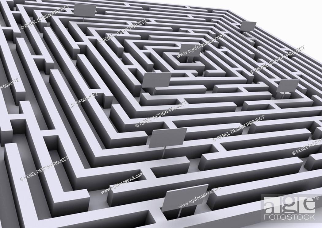 Stock Photo: Digital creation: labyrinth.