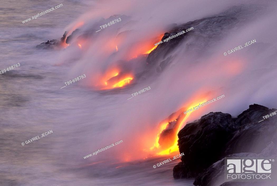 Stock Photo: Volcanoes NP, Volcanic eruption. Hawaii, USA.