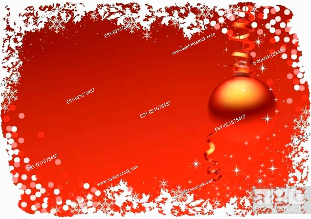 Stock Vector: Red Christmas Card.