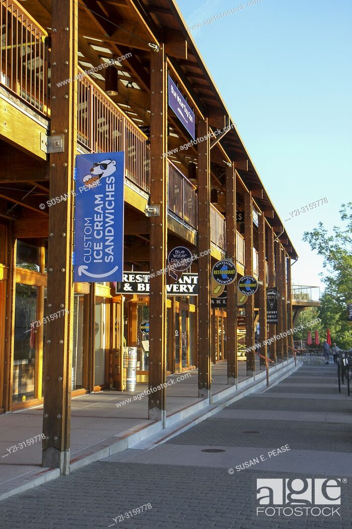 Stock Photo: Shops at Heavenly Village, South Lake Tahoe, California, United States.