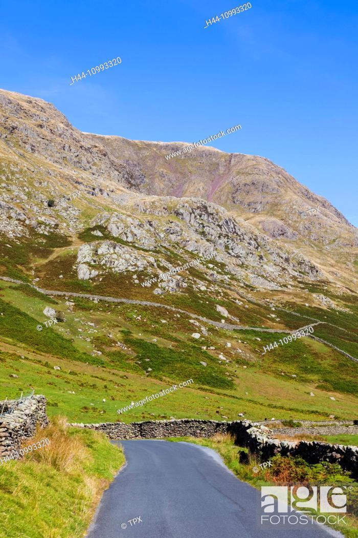 Stock Photo: England, Cumbria, Lake District, Kirkstone Pass, The Struggle Road to Ambleside.